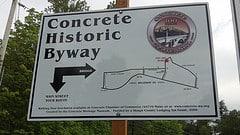 Tourism sign - Concrete, Washington