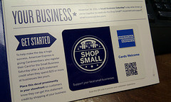 Amex Shop Small QR code decal