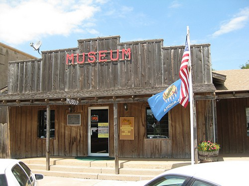 Wood-fronted museum building in Freedom, Oklahoma.