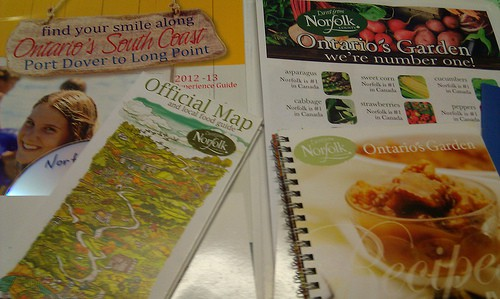 Brochures, maps and recipe books from Norfolk County