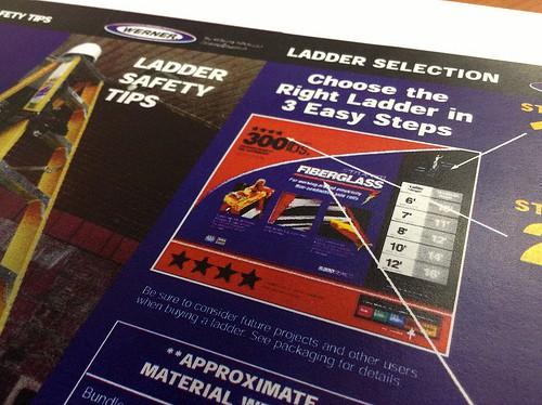 Ladder safety information sheet.