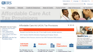 Where can you find answers on the Affordable Care Act? The IRS