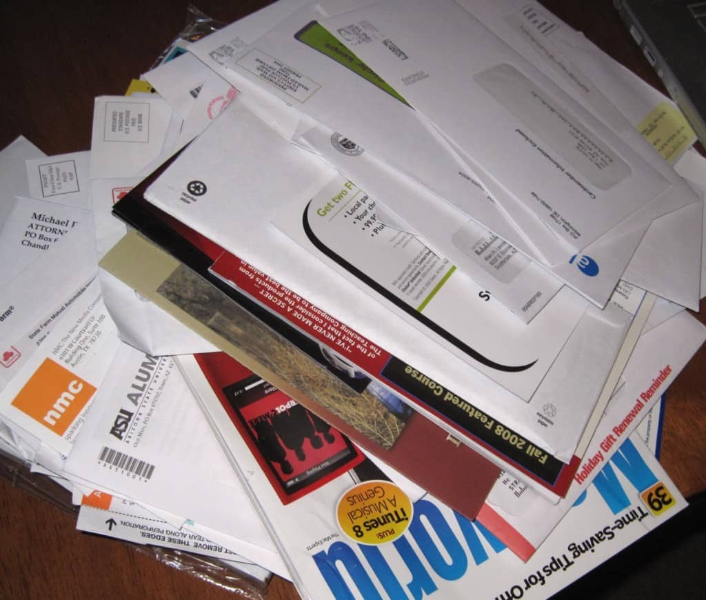Unsorted mail, adapted from cogdogblog