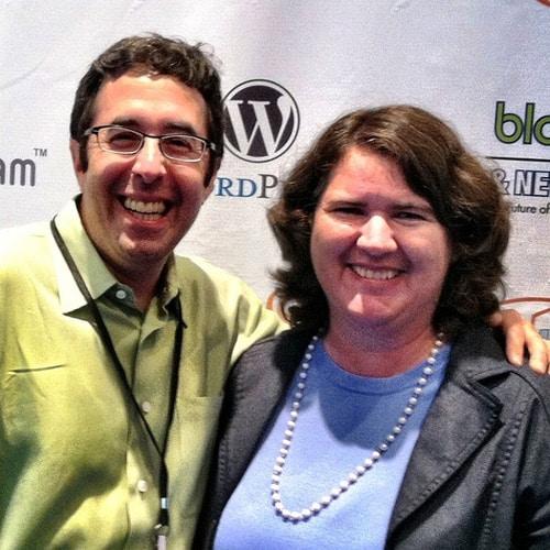Barry Moltz and Becky McCray. Photo by Bob Dunn.