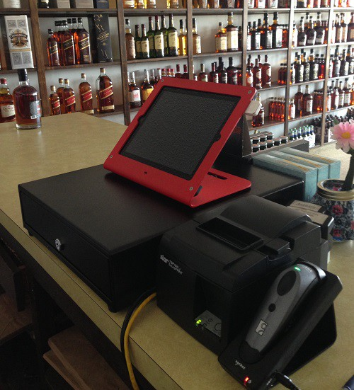 The new iPad POS set up in our store.