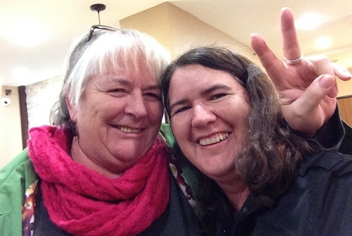 Deb and Becky - peace