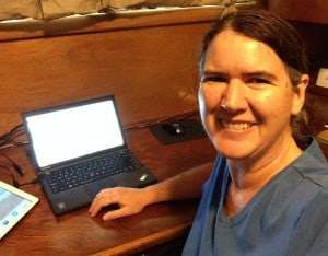 Becky McCray in her home office.