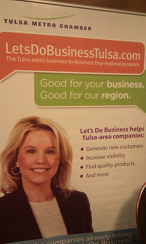 """Poster for """"Let's Do Business, Tulsa"""""""