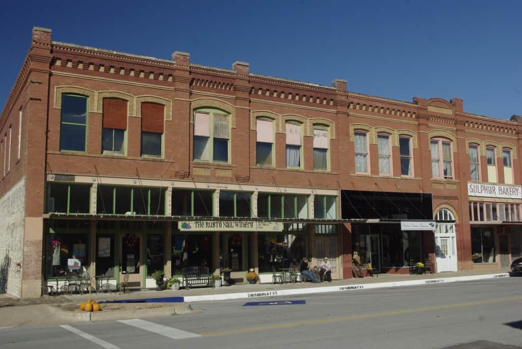 Downtown Sulphur, Oklahoma.
