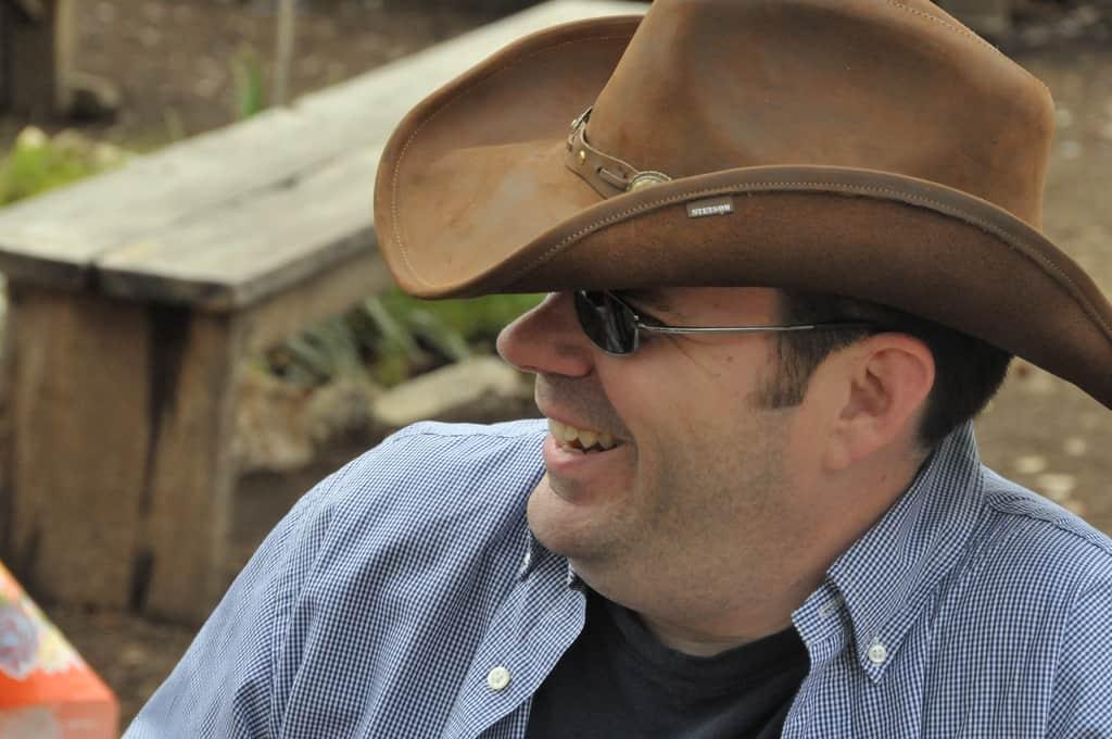 Mack Collier wearing a cowboy hat