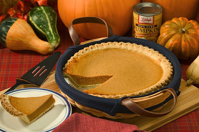 Pumpkin Pie in a basket