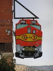 Sign for Santa Fe Cafe
