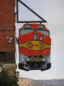 Sign for Santa Fe Cafe