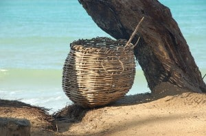 Basket on the beach by laurent on Flickr