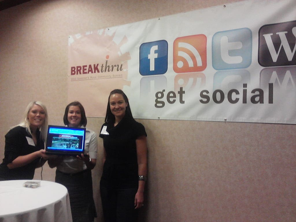 Social Media is a perfect fit for rural business. North Dakota's Governor's Rural Summit was getting social in 2010.