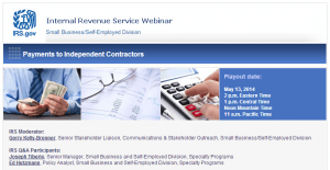 Webinars on hiring independent contractors and avoiding common tax mistakes