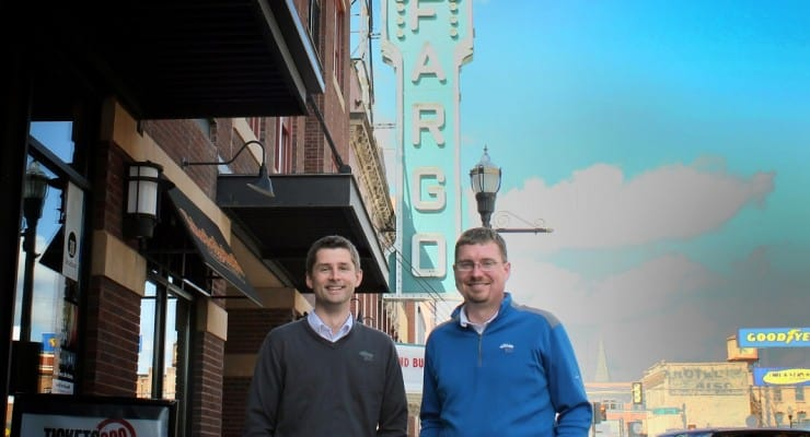 Fargo tech startup co-founders Brandon Medenwald and Bill Burgess.