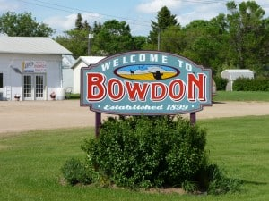 Bowden, ND sign
