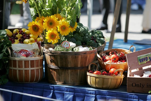 Food baskets. Photo by Kelly Huston