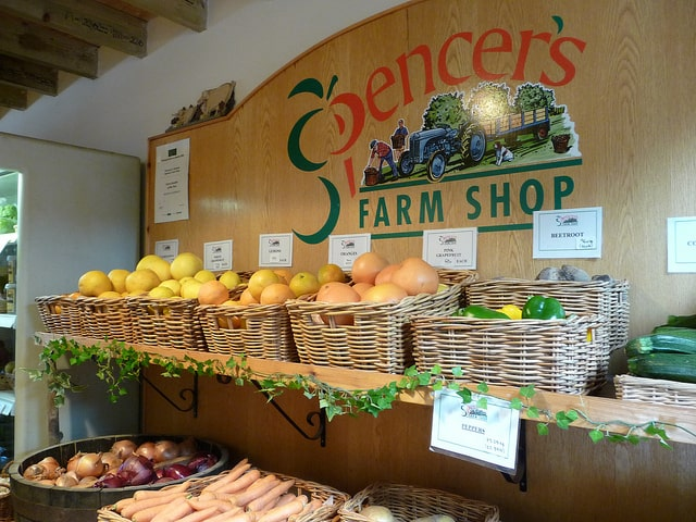 Photo by Carol on Flickr, of Spencers Farm Shop, Wickham Fruit Farm, Wickham St Pauls, Essex.