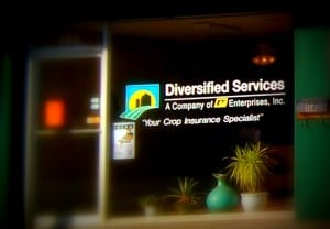"""Store window that says, """"Diversified Services."""""""