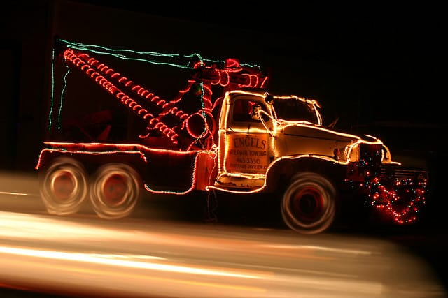 Holiday Tow Truck. CC by David Dennis on Flickr