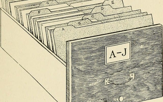 Index drawer. By Internet Archive Book Images on Flickr.