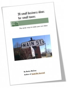 Small Town Business Ideas booklet cover