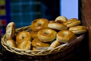 Basket of bagels. Photo by Vox Efx on Flickr.