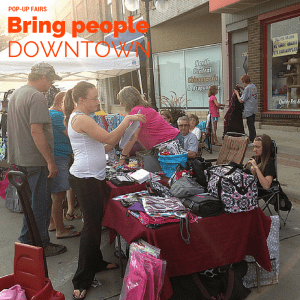 Pop-Up fairs bring people downtown