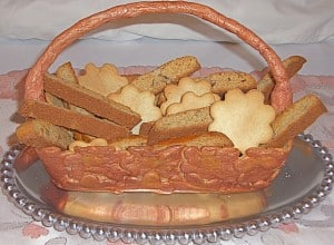 Basket made of cookies. Photo CC by Linda Khachadurian on Flickr