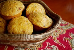 Basket of muffins by brianna.lehman on Flickr https://www.flickr.com/photos/briannalehman/3503428446/