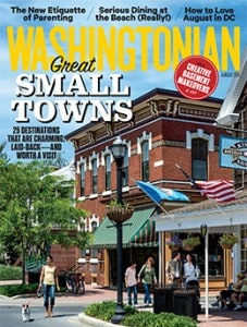 Washingtonian Magazine cover Great Small Towns