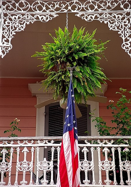 Basket with flag. Photo by David Ohmer on Flickr