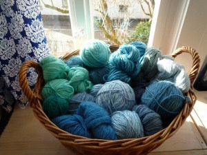 Basket of yarn photo by storebukkebruse on Flickr.