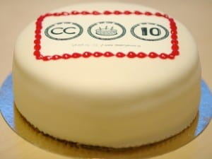 CC 10 birthday cake. Photo CC by Kristina Alexanderson