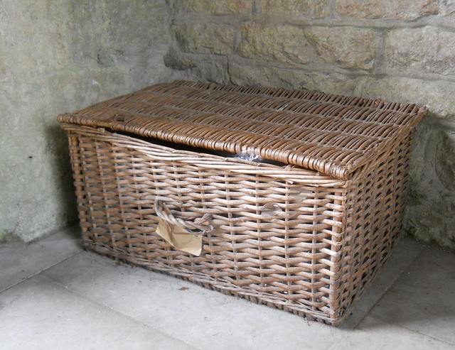 Basket trunk. Photo CC by shrinkin'violet https://www.flickr.com/photos/samuir/8151974445/
