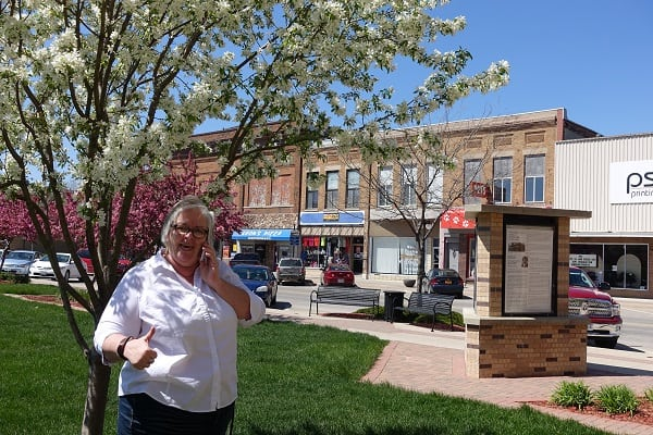 Deb Brown making connections in Webster City