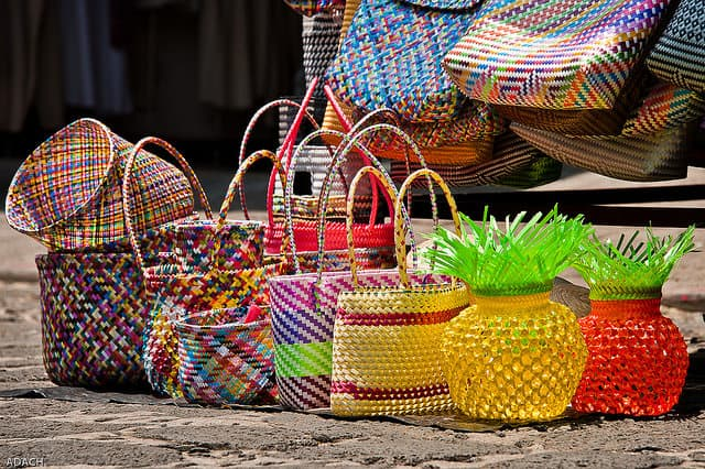 Magical baskets from Tepoztlan, Mexico. Photo by Christopher William Adach on Flickr