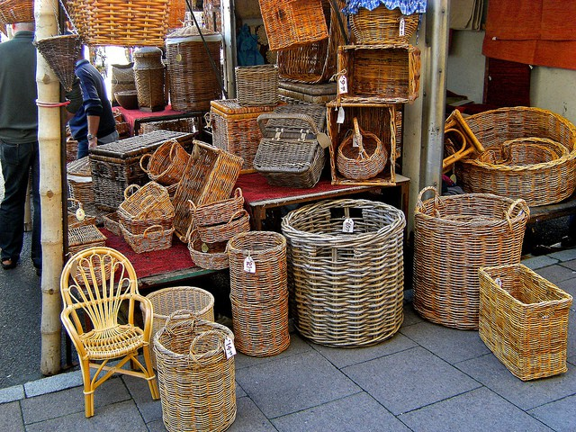 Baskets at Bury St Edmunds. Photo by Martin Pettitt on Flickr