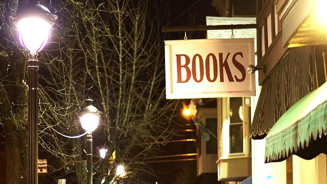 Books sign. Photo CC by Joshua Kirby on Flickr
