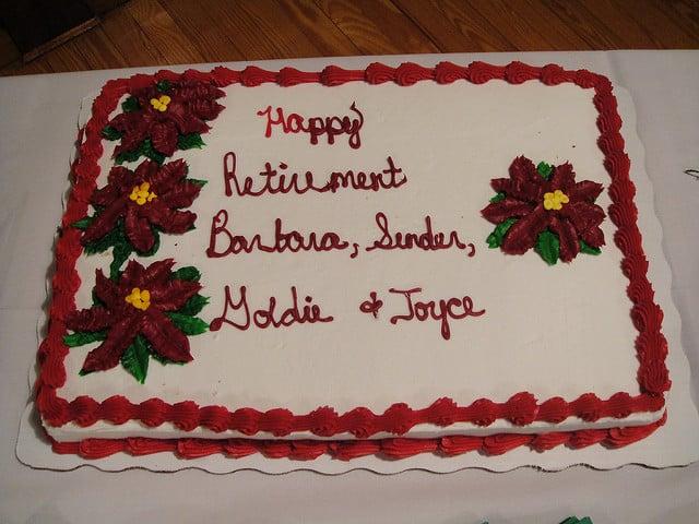 Reitrement cake
