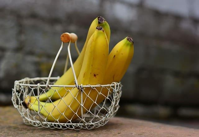 Bananas in a basket