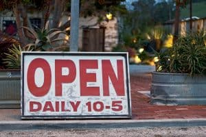 What hours should a retail store be open in a small town?