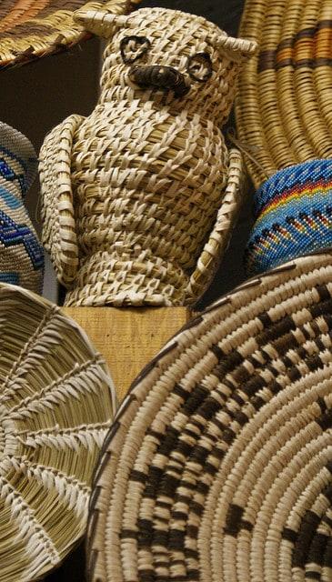 Owl made of basket materials
