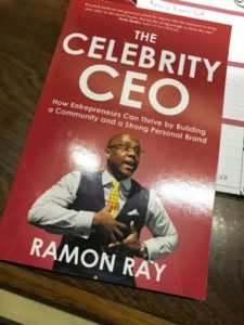 Book cover of The Celebrity CEO by Ramon Ray