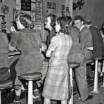1950s crowd at a Soda Fountain